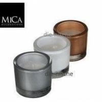 3er Set Kerzen im Glas