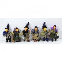 Raben-Hexen zum Aufhängen - 6er Set