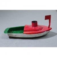 Tuk-Tuk Dampfboot rot-grün