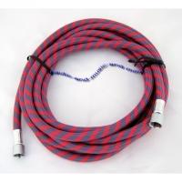 """Airbrush-Luftschlauch Textil G 1/8"""" - 1/8"""", rot/blau, 1.8 m"""