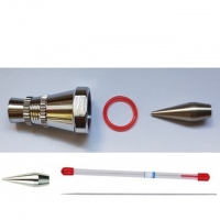 0.5 mm Nadel, Düse, O-Ring, Hauptkappe..