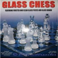 Schachspiel aus Glas - 19.5 cm x 19.5 ..