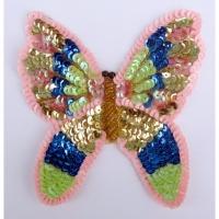 Pailletten Applikation Schmetterling 1