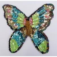 Pailletten Applikation Schmetterling 2