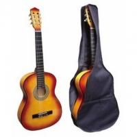 Klassische Akustikgitarre (rot-braun)