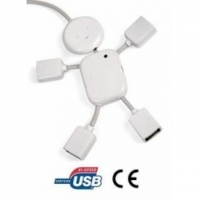 USB MAN - 2.0 High-Speed 4-Port Hub Ad..