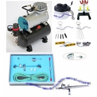 AIRBRUSH - SET AS-186 / BD-207K + ZUBE..
