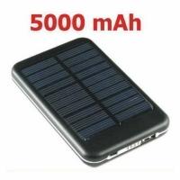 USB Solar Ladegerät mit Akku 5000mAh ..