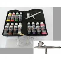 Koffer mit Createx Colors und Airbrush..
