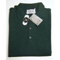 "Merino-Pullover ""Polo"" langarm, grün, L"