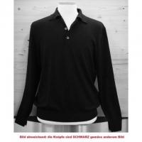 Polo Herrenpullover Baumwolle schwarz, L