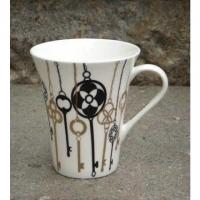 """6 Stk. Tassen / Mugs von S&P """"Black + .."""