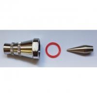 0.8 mm Düse, O-Ring, Hauptkappe, Düsenkappe und Nadelkappe für Airbrushpistole BD-183