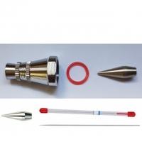 0.5 mm Nadel, Düse, O-Ring, Hauptkappe, Düsenkappe und Nadelkappe für Airbrushpistole BD-183