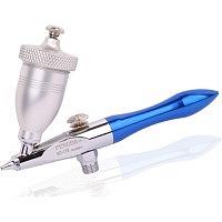 Air Eraser - Mini Sandstrahl Pistole inkl. Schlauch und Strahlgut, blau