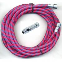 BD-24 rot 3.0m/BD-117 - Airbrush-Luftschlauch Textil + Schnellkupplung